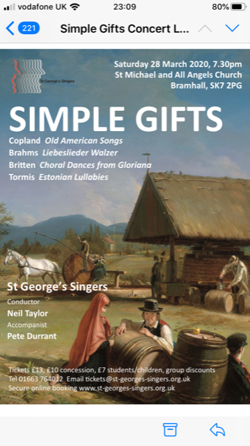 Poster for Simple Gifts